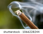Incense Stick Burning With...