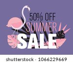 summer sale banner with... | Shutterstock .eps vector #1066229669