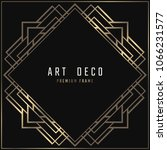 vector card. art deco style.... | Shutterstock .eps vector #1066231577