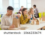 Stock photo teenage high school students at school cafeteria during lunch 1066233674