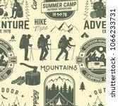 summer camp seamless pattern or ... | Shutterstock .eps vector #1066233731