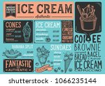 ice cream restaurant menu.... | Shutterstock .eps vector #1066235144