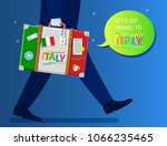 concept of travel to italy or... | Shutterstock .eps vector #1066235465