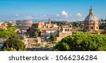 rome  italy city skyline with... | Shutterstock . vector #1066236284