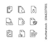 outline icons about files | Shutterstock .eps vector #1066237001