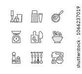 outline icons about cooking. | Shutterstock .eps vector #1066237019