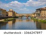 ponte vecchio of florence ... | Shutterstock . vector #1066247897