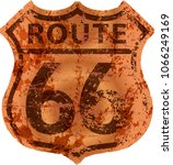 grungy route sixty six road... | Shutterstock .eps vector #1066249169
