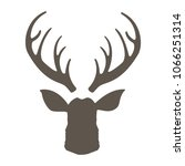reindeer with horns vector... | Shutterstock .eps vector #1066251314