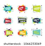 set of colorful abstract chat... | Shutterstock .eps vector #1066253069