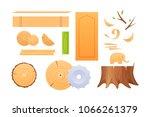 woodworking industry  materials ...   Shutterstock .eps vector #1066261379