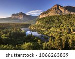 glacier national park  montana  ... | Shutterstock . vector #1066263839