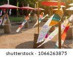 sand pagoda songkran festival. | Shutterstock . vector #1066263875