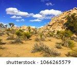 landscape in joshua tree...   Shutterstock . vector #1066265579
