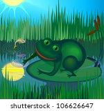 happy frog | Shutterstock .eps vector #106626647