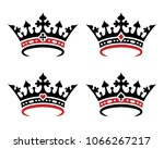 a set of royal crowns for... | Shutterstock .eps vector #1066267217