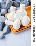 thai herbal compress massage... | Shutterstock . vector #1066268234