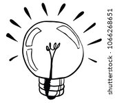 light bulb cartoon illustration ... | Shutterstock .eps vector #1066268651