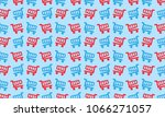 flat design with shopping cart... | Shutterstock .eps vector #1066271057