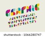 vector of modern abstract font...   Shutterstock .eps vector #1066280747