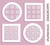 templates for laser cutting ... | Shutterstock .eps vector #1066281494