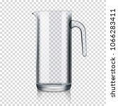 glass jug on transparent... | Shutterstock .eps vector #1066283411