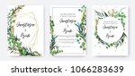 wedding invitation frame set ... | Shutterstock .eps vector #1066283639