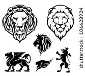 set of lion | Shutterstock .eps vector #106628924