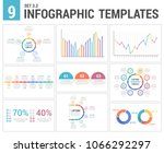 9 infographic templates  set 3  ... | Shutterstock .eps vector #1066292297