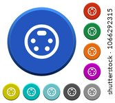 s video connector round color... | Shutterstock .eps vector #1066292315