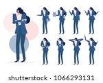 business woman set.  worker... | Shutterstock .eps vector #1066293131