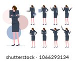 business woman set.  worker... | Shutterstock .eps vector #1066293134