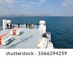 july 17 2016  big car ferry...   Shutterstock . vector #1066294259