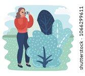 vector cartoon illustration of... | Shutterstock .eps vector #1066299611