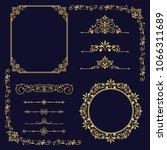 set of vintage elements. frames ... | Shutterstock . vector #1066311689