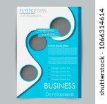 flyer template. design for a... | Shutterstock .eps vector #1066314614