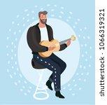 vector cartoon illustration of... | Shutterstock .eps vector #1066319321