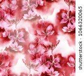 sakura blossom mix repeat... | Shutterstock . vector #1066320065