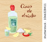 cinco de drinko playful poster. ... | Shutterstock .eps vector #1066328411