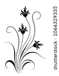 decorative floral ornament for... | Shutterstock . vector #1066329335