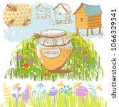 vector illustration on a honey...   Shutterstock .eps vector #1066329341