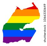 lgbt flag map of djibouti.... | Shutterstock .eps vector #1066330649