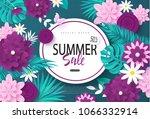 summer sale banner.background... | Shutterstock .eps vector #1066332914