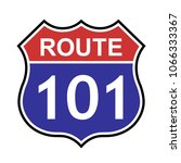 us route 101 sign  shield sign... | Shutterstock .eps vector #1066333367