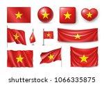 set vietnam flags  banners ... | Shutterstock .eps vector #1066335875