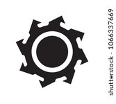 saw blade icon isolated on... | Shutterstock .eps vector #1066337669
