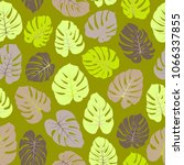 vector tropical pattern with... | Shutterstock .eps vector #1066337855