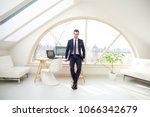 full length of young... | Shutterstock . vector #1066342679