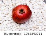 big ripe red granet or garnet... | Shutterstock . vector #1066343711