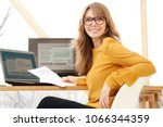 successful smiling mature... | Shutterstock . vector #1066344359